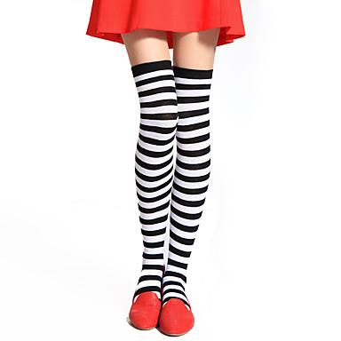 preiswerte Lolita Schuhware-Damen Punk Lolita Kleid Strümpfe / Strumpfhosen Gestreift Baumwolle Lolita Accessoires / Hochelastisch