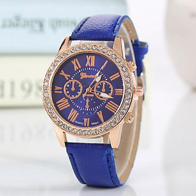Geneva Dámské Náramkové hodinky Křemenný Černá   Bílá   Červená imitace  Diamond Analogové dámy Přívěšky Třpyt Na běžné nošení Módní - Modrá Růžová  ... 3821c0fcb66