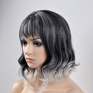 Synthetic Wig Natural Wave Style Wig Short Natural Black Synthetic Hair Women's Black Wig