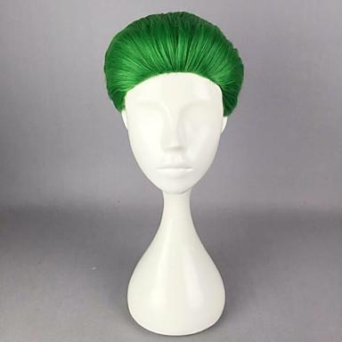 preiswerte Karneval - Perücken-Synthetische Perücken Perücken Glatt Gerade Perücke Kurz Grün Synthetische Haare Damen Grün hairjoy