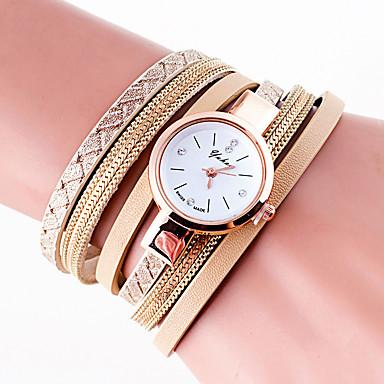 สำหรับผู้หญิง นาฬิกาสร้อยข้อมือ นาฬิกาข้อมือ นาฬิกาอิเล็กทรอนิกส์ (Quartz) PU Leather ดำ / สีขาว / ฟ้า เท่ห์ สีสัน ระบบอนาล็อก เสน่ห์ วินเทจ ไม่เป็นทางการ โบฮีเมียน กำไล - น้ำเงินเข้ม สีเทา สีฟ้า