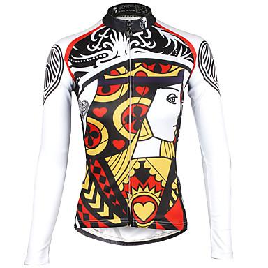 ILPALADINO สำหรับผู้หญิง แขนยาว Cycling Jersey ทับทิม ขนาดพิเศษ จักรยาน เสื้อยืด Tops ขี่จักรยานปีนเขา Road Cycling ระบายอากาศ แห้งเร็ว Ultraviolet Resistant กีฬา 100% โพลีเอสเตอร์ Terylene