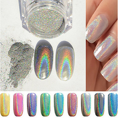 1pc Colorful New Rainbow Shinning Mirror Nail Glitter Powder Perfect Holographic Nails Dust Laser Holo Pigment 5445198 2018 2 99