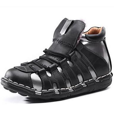 สำหรับผู้ชาย รองเท้าสบาย ๆ แน๊บป้า Leather ตก / ฤดูหนาว ไม่เป็นทางการ บูท เดินป่า สีดำ / พรรคและเย็น / พรรคและเย็น / กลางแจ้ง / สำนักงานและอาชีพ / รองเท้าบู้ทใส่สำหรับหิมะ