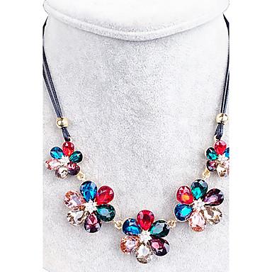 ac463d84ba2e Mujer Cristal Collar - Cristal Flor Negro