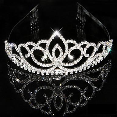 povoljno Party pokrivala za glavu-Žene Umjetno drago kamenje Kristal Glava-Vjenčanje Special Occasion Tiaras