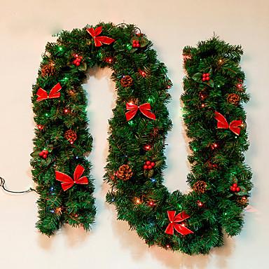 Feliz Navidad เด CAA de Navidad รัตน wreathoriginal เวิร์ด de Navidad พวงมาลัย Partido decoracin เดรัตน ornamento พีวีซี