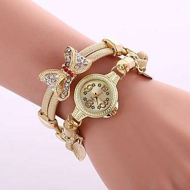 levne Dámské-Dámské Náramkové hodinky Diamond Watch Křemenný Černá / Modrá / Stříbro Cool Barevná Analogové dámy Přívěšky Třpyt Vintage Na běžné nošení - Stříbrná Červená Modrá