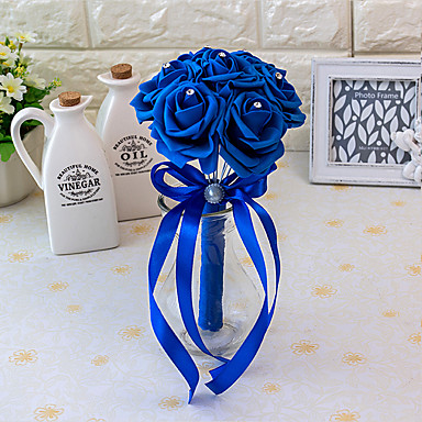 ดอกไม้สำหรับงานแต่งงาน ช่อดอกไม้ งานแต่งงาน ซาตินผ้ายืด ซาติน โฟม 8.66