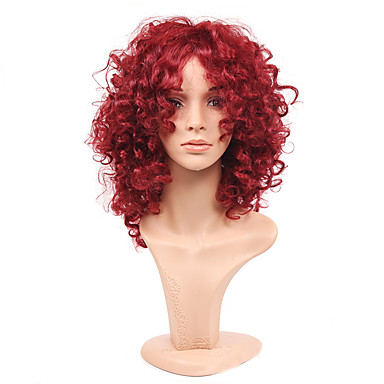 fashion rihanna charming kinky curly wigs african american kinky curly wine  red short wigs synthetic hair for black women 5388662 2019 –  16.99 faafac64e107