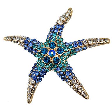levne Dámské šperky-Dámské Brože Mořská hvězdice dámy Módní Brož Šperky Bílá Červená Modrá Pro Párty Denní Ležérní