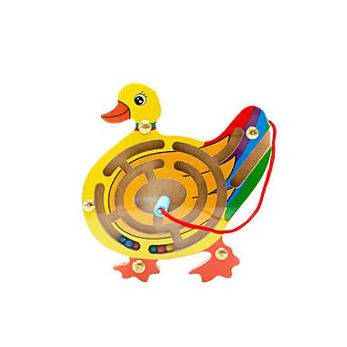 Muwanzi Building Blocks เขาวงกต เขาวงกตแม่เหล็ก Magnetic แปลกใหม่ Duck ไม้ Cartoon 1 pcs สำหรับเด็ก เด็กผู้ชาย เด็กผู้หญิง Toy ของขวัญ
