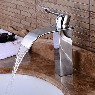 ก๊อกน้ำอ่างล้างจานห้องน้ำ - Pre Rinse / น้ำตก / กระจาย มีสี ตัวเจาะนำศูนย์ จับเดี่ยวหนึ่งหลุมBath Taps