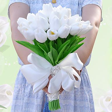 ดอกไม้สำหรับงานแต่งงาน ช่อดอกไม้ งานแต่งงาน งานปาร์ตี้ / งานราตรี ผ้าแพรแข็ง สเปนเดก ลูกไม้ พลอยเทียม เส้นใยสังเคราะห์ ซาติน 9.84