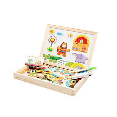 levne 3D puzzle-Muwanzi Magnetické hračky / Puzzle / Vzdělávací hračka Slon / Dům / Kůň Zvířata / Magnetické / Zábavné Dřevo Animák Dárek