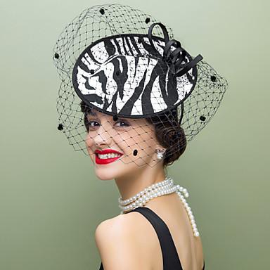 voordelige Hoeden-Wol / Stof / Net Kentucky Derby Hat / fascinators / hatut met 1 Bruiloft / Speciale gelegenheden  / Causaal Helm