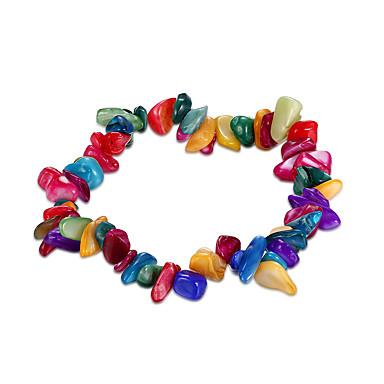 สำหรับผู้หญิง คริสตัล สร้อยข้อมือโซ่และเชื่อมโยง คริสตัล สร้อยข้อมือเครื่องประดับ สายรุ้ง สำหรับ วันเกิด ของขวัญ ทุกวัน / เทอร์ควอยส์