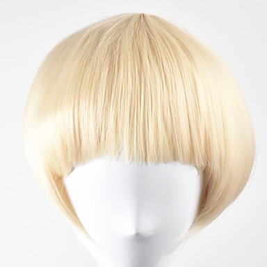 Synthetic Wig Straight Blonde Bob Haircut Synthetic Hair Blonde Wig Women's Short Capless Golden Blonde