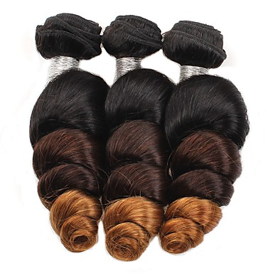 povoljno Ekstenzije od ljudske kose-3 paketa Brazilska kosa Valovita kosa Ljudska kosa Ombre Isprepliće ljudske kose Proširenja ljudske kose / 8A