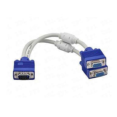 1 x VGA hane till 2 x VGA hona kabel vga splitter