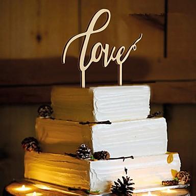 เครื่องประดับเค้ก ไม้ / วัสดุผสม เครื่องประดับจัดงานแต่งงาน วันเกิด / งานแต่งงาน ธีมคลาสสิก ฤดูใบไม้ผลิ / ฤดูร้อน / ตก