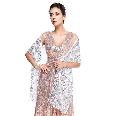 เลื่อม งานแต่งงาน / Party / Evening Women's Wrap กับ เลื่อม ผ้าคลุมไหล่