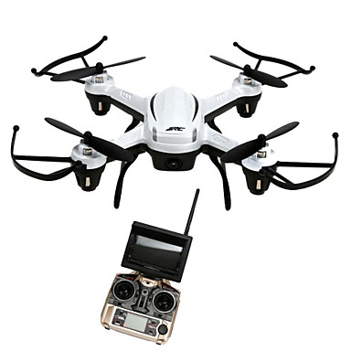 RC Ρομποτάκι JJRC H32GH 4 Kανάλια 6 άξονα 5.8G Με κάμερα HD 2.0MP Ελικόπτερο RC με τέσσερις έλικες Φώτα LED / Επιστροφή με ένα kουμπί / Auto-Απογείωση Ελικόπτερο RC με T / Λειτουργία άμεσου ελέγχου