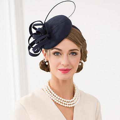 povoljno Party pokrivala za glavu-Vuna / Perje Kentucky Derby Hat / Fascinators / kape s Cvjetni print 1pc Vjenčanje / Special Occasion / Kauzalni Glava