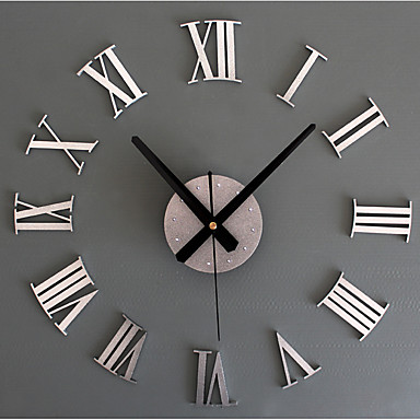cheap Wall Clocks-Modern Contemporary / Retro Acrylic / Glass / Metal Round Novelty / Holiday / Inspirational Indoor / Outdoor AA Decoration Wall Clock Analog Emboss No