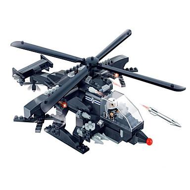 Action Figures & Stuffed Animals Building Blocks บล็อกทางทหาร ถัง Fighter เฮลิคอปเตอร์ ที่เข้ากันได้ Legoing เท่ห์ เก๋ไก๋และทันสมัย เด็กผู้ชาย เด็กผู้หญิง Toy ของขวัญ / ของเล่นการศึกษา