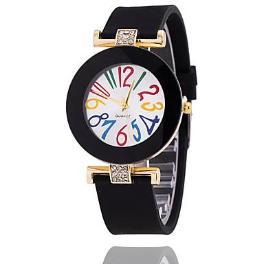 levne Dámské-Dámské Náramkové hodinky Křemenný Silikon Černá / Bílá / Modrá Žhavá sleva Analogové dámy Vintage Na běžné nošení Módní - Černá Hnědá Světle modrá