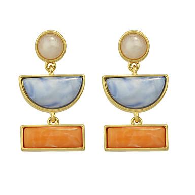 povoljno Modne naušnice-Žene Viseće naušnice dame Tirkiz Naušnice Jewelry žuta Za Dnevno