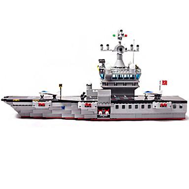 Building Blocks บล็อกทางทหาร ของเล่นชุดก่อสร้าง เรือรบ เรือบรรทุกเครื่องบิน ทหาร ที่เข้ากันได้ Legoing แปลกใหม่ Aircraft Carrier เด็กผู้ชาย เด็กผู้หญิง Toy ของขวัญ / ของเล่นการศึกษา