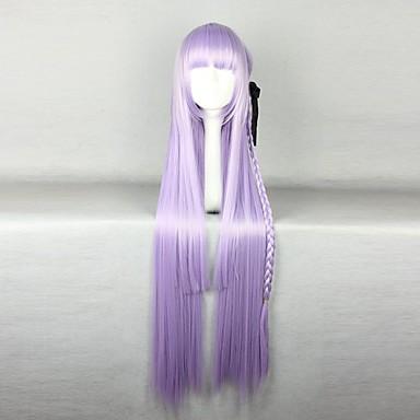 วิกผมสังเคราะห์ วิกคอสตูม Straight ตรง ผมปลอม Purple สังเคราะห์ สำหรับผู้หญิง วิกผมถัก Braids แอฟริกัน ม่วง hairjoy