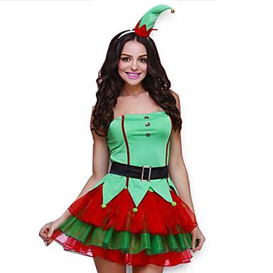 Festival Svátek Halloweenské kostýmy Jednolitý Šaty Pásek Doplňky do vlasů  Vánoce Dámské Hedvábí Organza 5415078 2019 –  32.99 4a39fe9b28