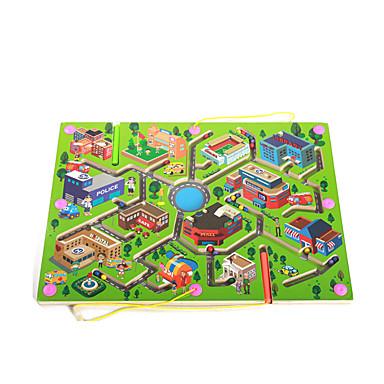 QZM เขาวงกต เขาวงกตแม่เหล็ก ของเล่นการศึกษา Magnetic ไม้ สำหรับเด็ก ผู้ใหญ่ เด็กผู้ชาย เด็กผู้หญิง Toy ของขวัญ