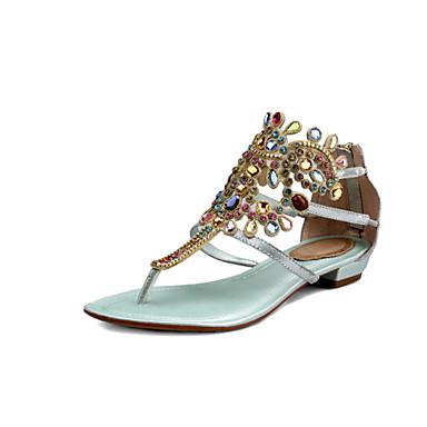 d82759677 Mulheres Sapatos Couro Tira em T / Inovador Sem Salto Cristais Azul /  Dourado / Casamento / Festas & Noite / Festas & Noite de 3632890 2019 por  $48.99