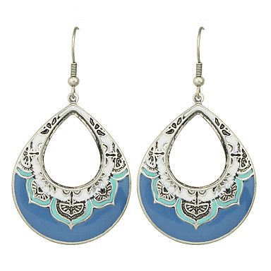 สำหรับผู้หญิง Drop Earrings ต่างหู Raffia ถูก สุภาพสตรี โบฮีเมียน โบโฮ ต่างหู เครื่องประดับ ฟ้า สำหรับ ปาร์ตี้ ทุกวัน ที่มา