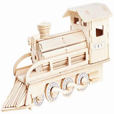 รถของเล่น ปริศนาไม้ Train ระดับมืออาชีพ ไม้ 1 pcs รถไฟ เด็กผู้ชาย เด็กผู้หญิง Toy ของขวัญ