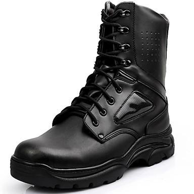 Unisex Zapatos Cuero Primavera Verano Otoño Invierno Botas de Combate Botas hasta el Tobillo Botas de Moda Botas Camperas Confort Botas RINZP4