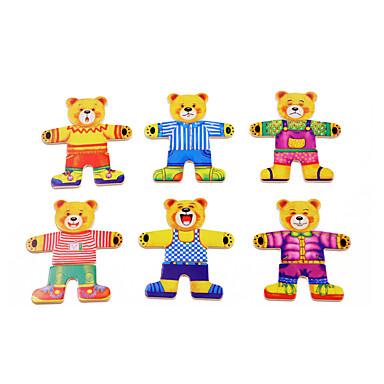 levne 3D puzzle-Puzzle / Vzdělávací hračka Medvěd Zábavné Dřevo Chlapecké / Dívčí Dárek