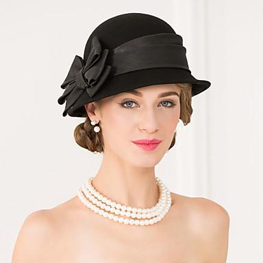 povoljno Party pokrivala za glavu-Drago kamenje i kristali / Vuna / Til Kentucky Derby Hat / kape / Headpiece s Kristal / Perje 1 Vjenčanje / Special Occasion / Zabava / večer Glava