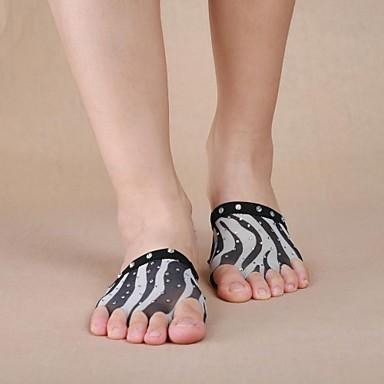 ชุดเต้นระบำหน้าท้อง Warm Ups สำหรับผู้หญิง Performance เส้นใยสังเคราะห์ คริสตัล / พลอยเทียมต่างๆ Stockings