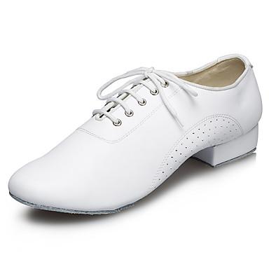 สำหรับผู้ชาย รองเท้าเต้นรำ หนังเทียม ลาติน / แจส รองเท้าแตะ / ส้น ส้นแบบกำหนดเอง ตัดเฉพาะได้ สีดำ / ขาว / ในที่ร่ม / Performance / ฝึก / มืออาชีพ / EU43