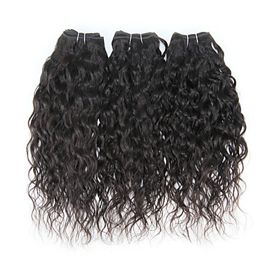 povoljno Ekstenzije od ljudske kose-3 paketa Brazilska kosa Water Wave Ljudske kose plete Isprepliće ljudske kose Proširenja ljudske kose / 8A / Vodeni valovi