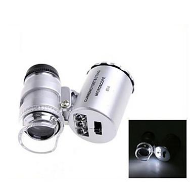 billige Test-, måle- og inspeksjonsverktøy-ZW-9882 60X Mini Plast Optisk Glass Linse Forstørrelsesglass (3 * LR1130)