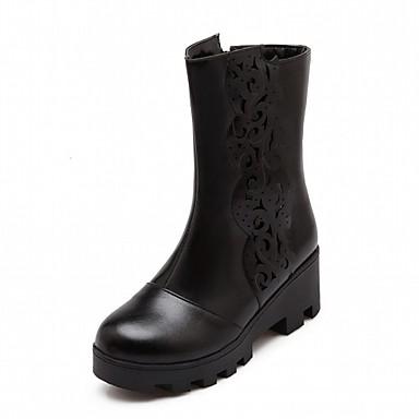 89d0d8b89d061 Femme Chaussures Similicuir Cuir Verni Printemps Automne Hiver boîtes de  Combat Botillons Bottes Moto Bottes à la Mode Bottes Cavalières de 5407757  2019 à ...