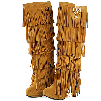 Women's Shoes Fur Winter Fall Gladiator Cowboy / Western Boots Fashion Boots Motorcycle Boots Combat Boots Boots Stiletto Heel Tassel