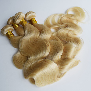 povoljno Ekstenzije za kosu-4 paketića Brazilska kosa Tijelo Wave Ljudska kosa Precolored kose plete Isprepliće ljudske kose Proširenja ljudske kose / 8A