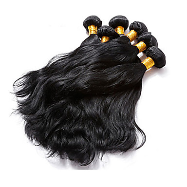 povoljno Ekstenzije za kosu-3 paketa Brazilska kosa Prirodne kovrče Ljudska kosa Ljudske kose plete Isprepliće ljudske kose Proširenja ljudske kose